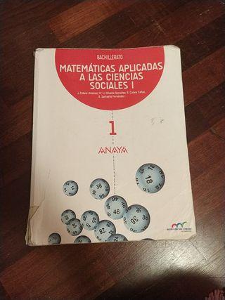Libro 1° de bachiller Matemáticas aplicadas