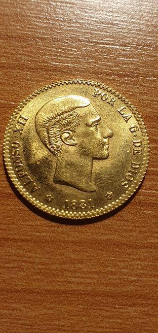 Alfonso XII 10 pesetas 1881 Oro