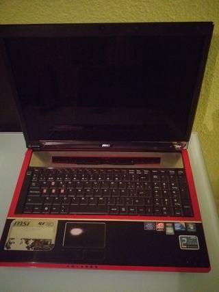 portatil i7...msi....para piezas no en ciende