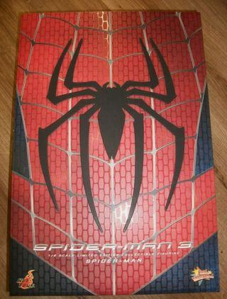 Figura spiderman 3 Hot Toys 1/6 + vinilo + poster