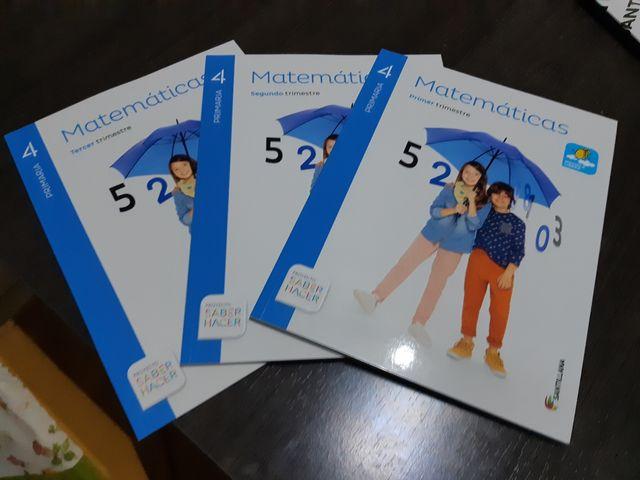 libros de matematicas de 4° curso de primaria