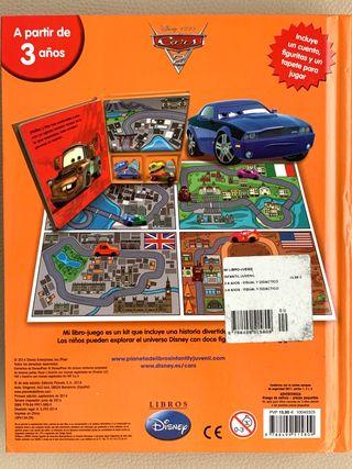 Libro Disney Cars Mate y Rayo McQueen juego