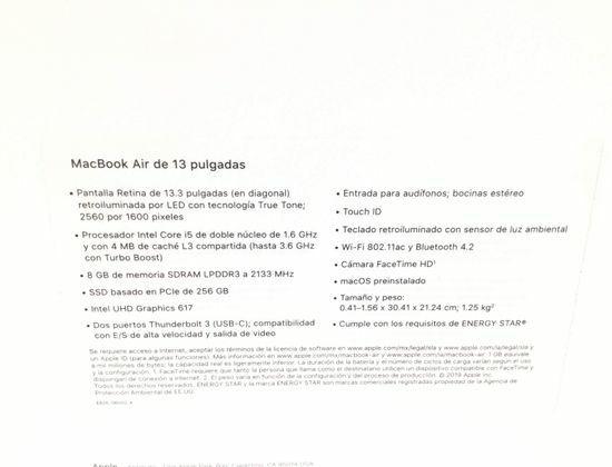 319310 Portatil Apple Mvfn2y/A Macbook Air 13 Gold