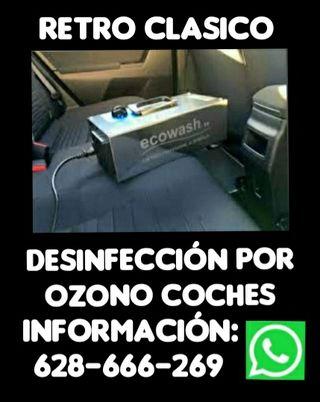 DESINFECCIÓNES POR OZONO PARA COCHES.