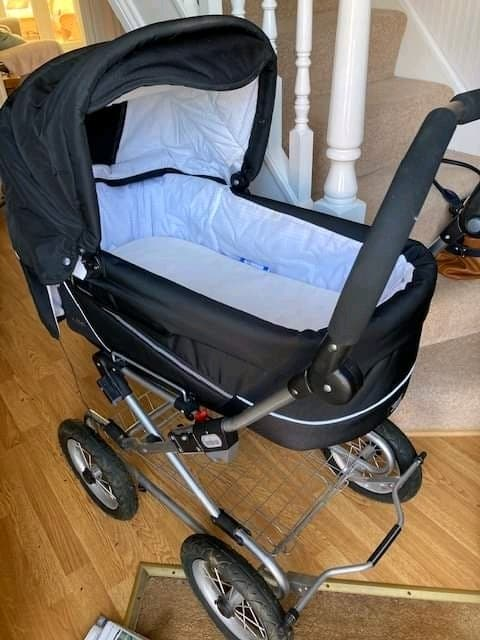 pram and baby chair