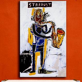 Jean-Michel-Basquiat - Stardust Graffiti - lienzo