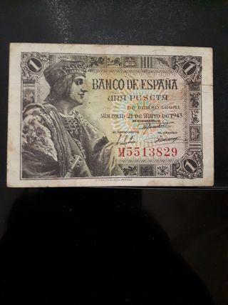 billete 1peseta España 1943
