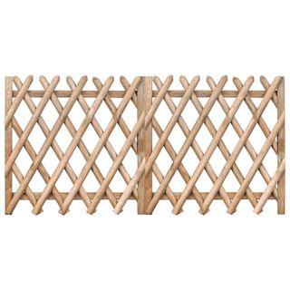 Puertas de valla 2 uds madera pino impregnada 300