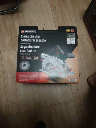 sierra circular bateria nueva parkside