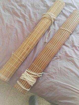 Cortines de canya i bambú
