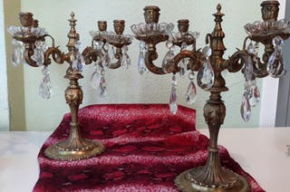 Candelabros antiguos de bronce