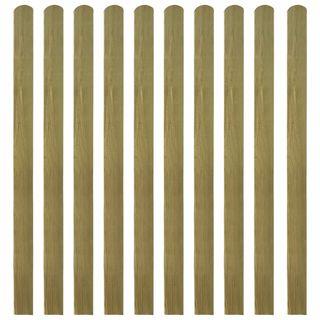 Listones de valla de jardín 20 uds madera impregn