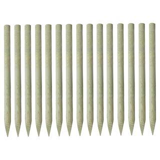 15x Postes puntiagudos de valla pino impregnado 4