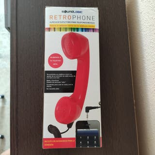 Adaptador móvil retro rojo