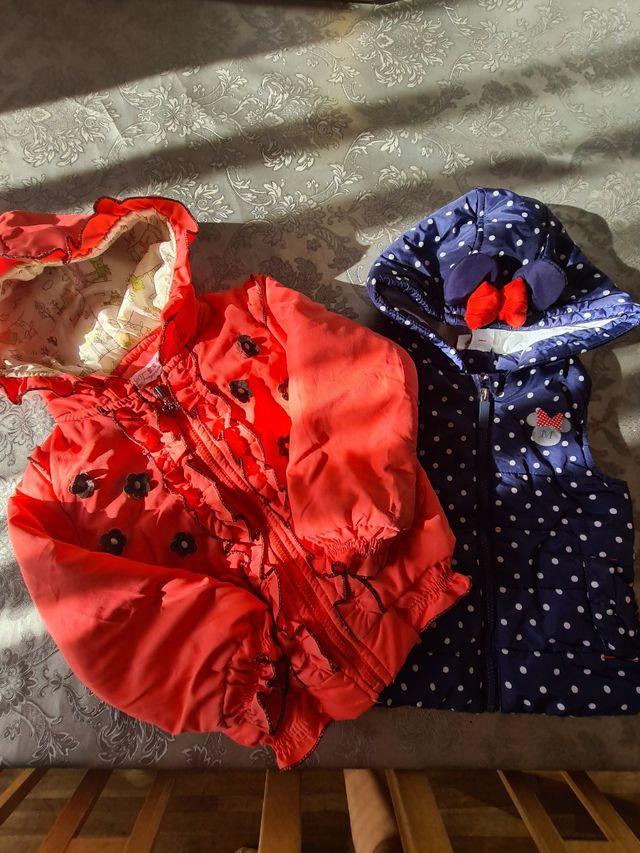 abrigo anorak y chaleco, niña 3- 4 años