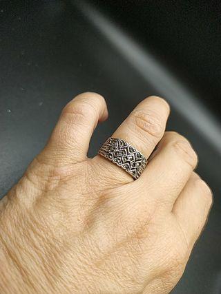 anillo plata y marquesitas