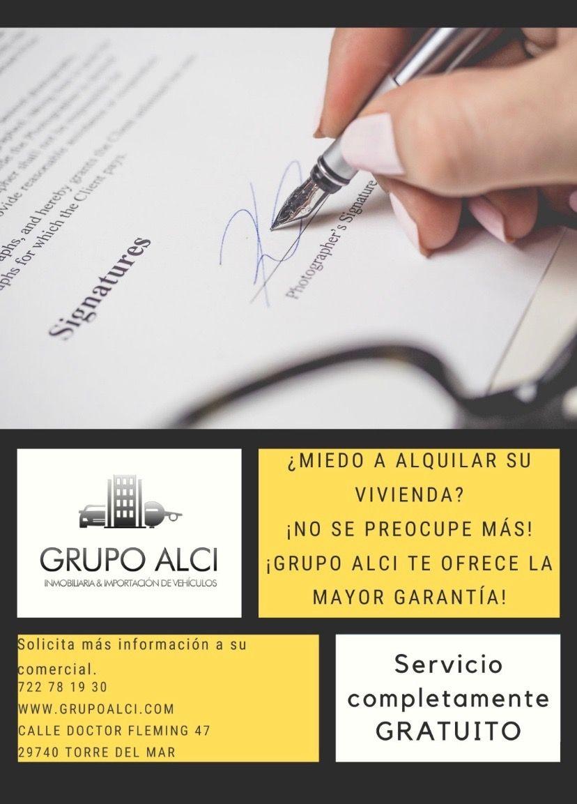 Grupo Alci ofrece servicio de alquiler gratuito (Torre del Mar, Málaga)
