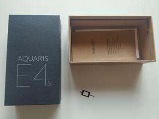 Aquaris bq E4.5 + Cargador + Funda + Auriculares