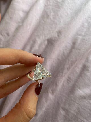 Anillo plata 925 piedra Swarovski
