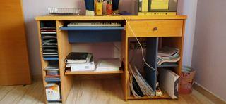 escritorio y mesa de ordenador dos en uno