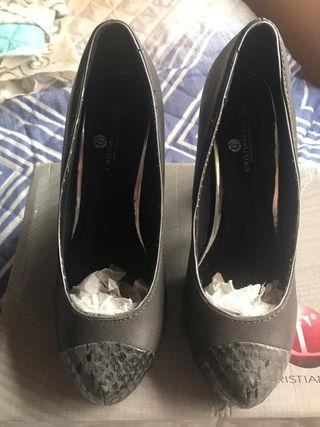 zapatos de tacón piel
