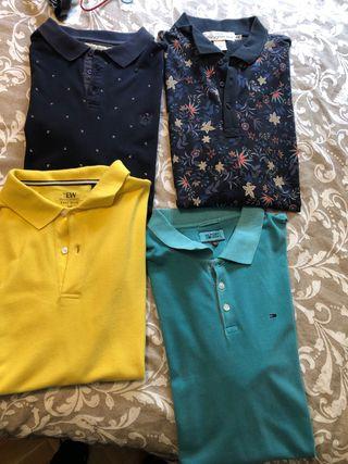 Pack polos de distintos colores
