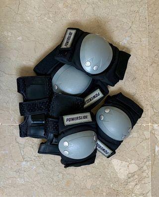 Set Protecciones Roller Powerslide Talla XS