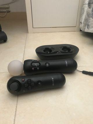 Mandos + cargador Playstation Move