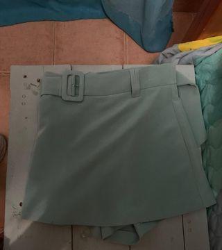 falda pantalón verde agua