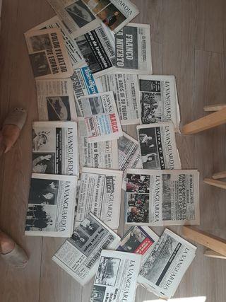 Lote de Periódicos de la muerte de Franco (1975)