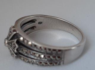 Anillo vintage de plata 926 & Marquesitas