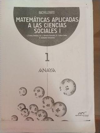 Libro de matemáticas 1°Bachillerato.