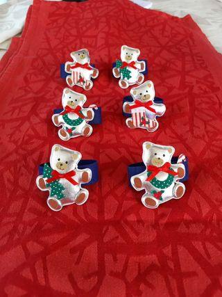 Conjunto 6 servilleteros ositos (T3)