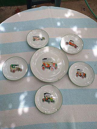 platos decoración coches