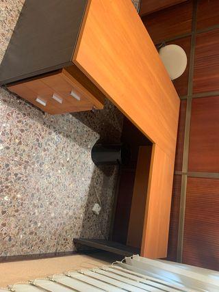 Mesa escritorio en forma de L, como nueva!