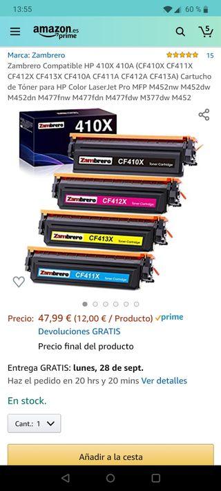 Toner laser HP 410X 410A