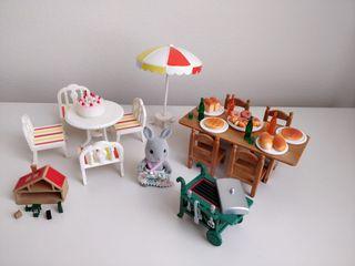 Set barbacoa casita de muñecas