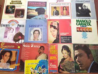 Lote 37 discos vinilo cante copla pasodoble Fandan