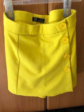 Falda/pantalón con botones Zara