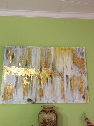 Quadre Abstracte Or. Cuadro Abstracto Oro.