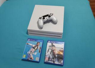 PlayStation 4 Pro Blanca 1TB + 2 juegos