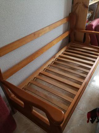 Sofá de Tres plazas de pino
