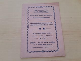 librito MR RM para bordar sabanas manteles o ropa
