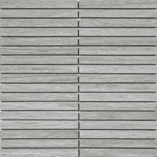 Mosaico tiras de madera efecto natural