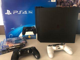 PS4 PRO 1TB + 2 mandos + 3 juegos