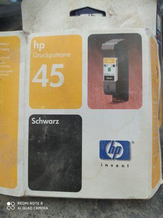 cartucho de impresora hp 45