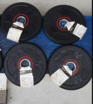 pack 4 discos de 2,5kg hago envios