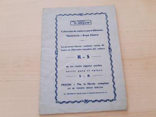librito RS SR para bordar sabanas manteles o ropa