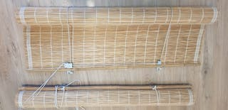 estores bambú