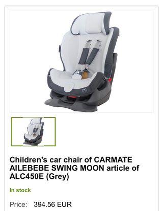 Silla reclinable para coche